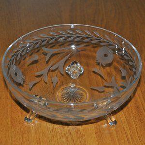 Beautiful Princess House Crystal Footed Bowl